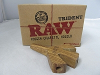 Raw Trident Wooden Cig Holder 1ct