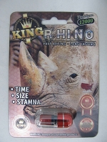 King Rhino Titanium 12000 in Acrylic Pill Container