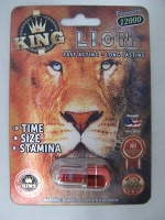 King Lion Titanium 12000 in Acrylic Pill Container