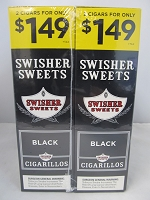 Swisher Sweet Cigarillos 2/$1.49 ~ 30ct Pouch (Black)