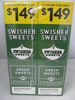 Swisher Sweet Cigarillos 2/$1.49 ~ 30ct Pouch (Green Sweets)