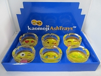 Kaomoji Ashtray 6ct Display