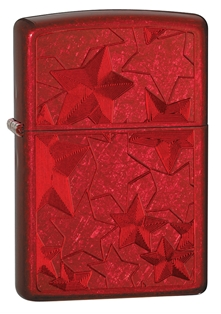 Zippo: Stars Candy Apple Red # 28339