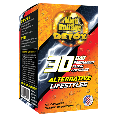 High Voltage Premium 30-Day Permanent Flush 120 Capsules Display (Alternative Lifestyle)