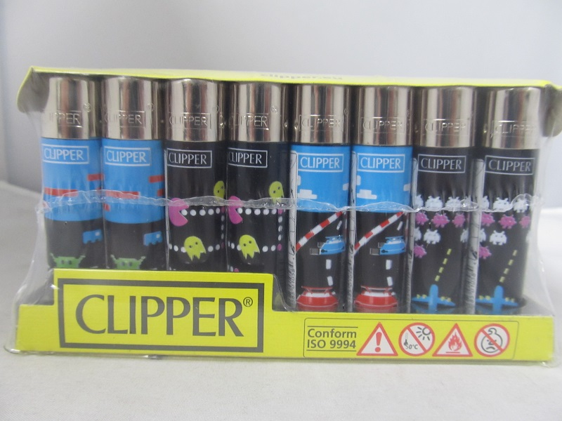 Clipper Refillable Lighter COMPUTER Games 48ct Display