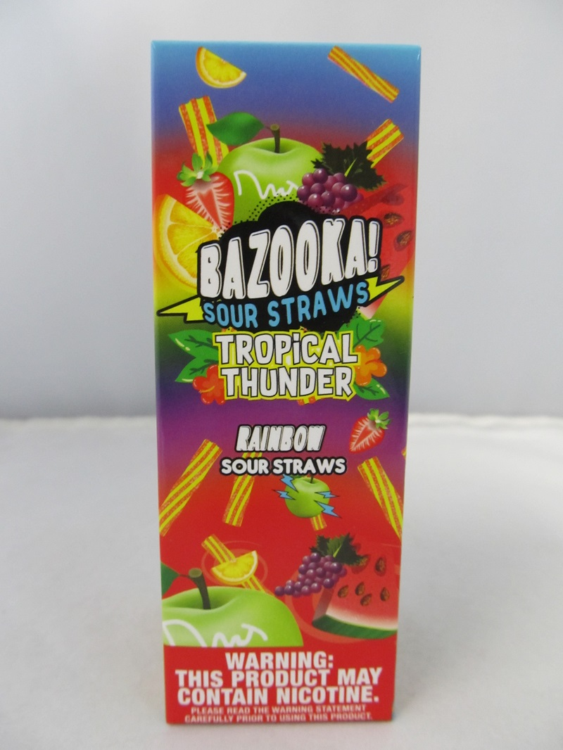 Bazooka Tropical Thunder-Rainbow Sour Straws 3mg 100ml