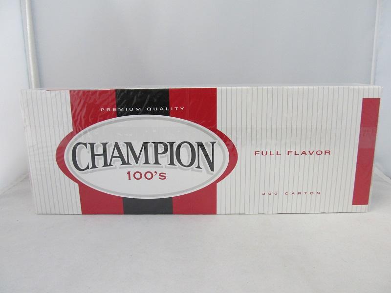 Champion All-Natural Tobacco Alternative Pack 10/20 CIGARETTES - 100's