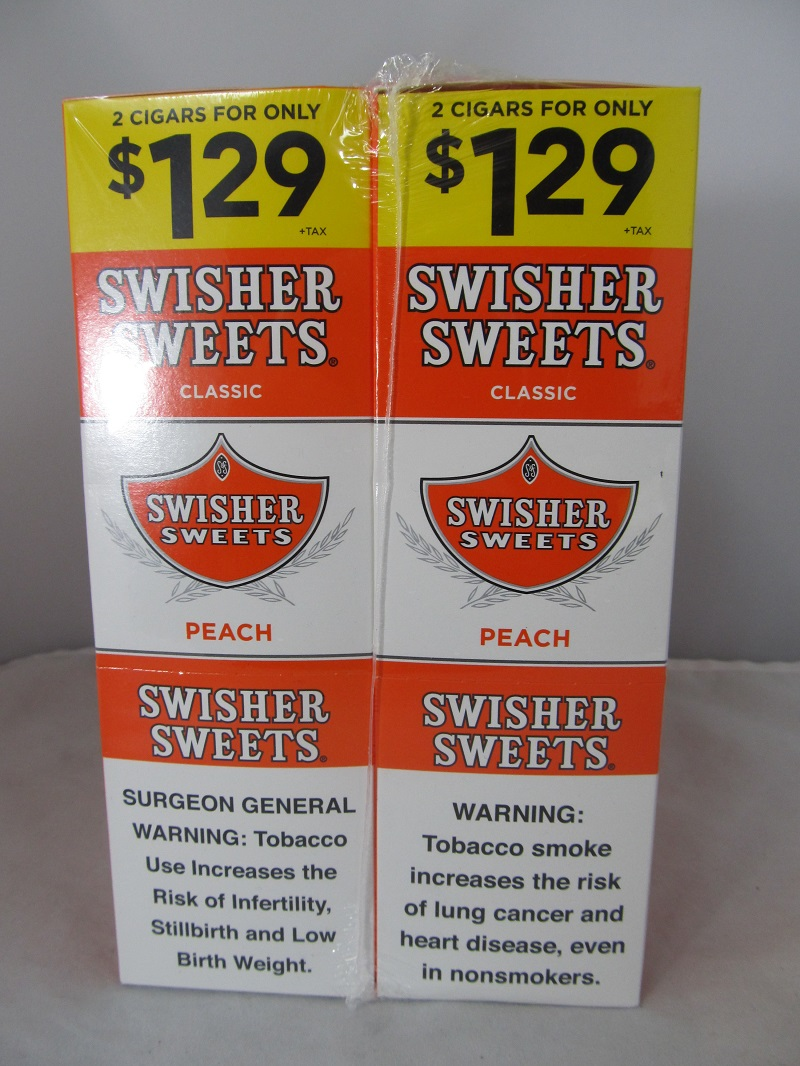 Swisher Sweet Cigarillos 2/$1.29 ~ 30ct Pouch (Peach)