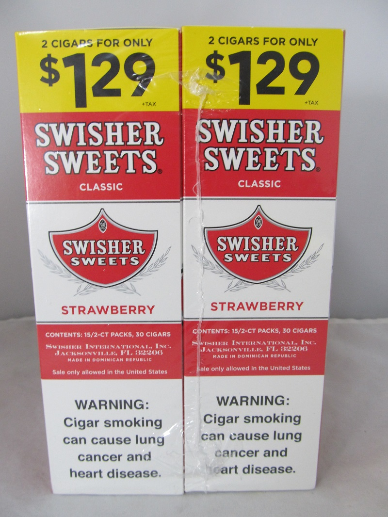 Swisher Sweet Cigarillos 2/$1.29 ~ 30ct Pouch (Strawberry)