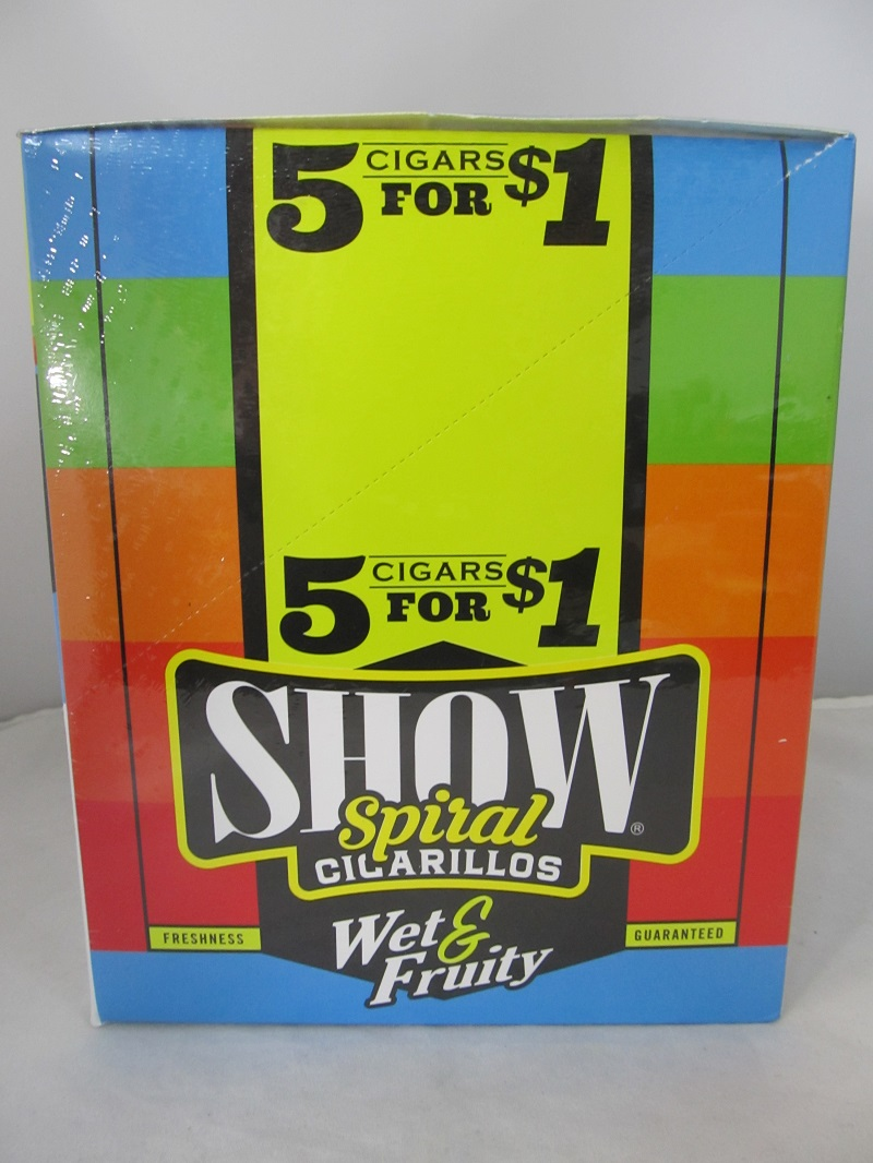 Show Cigarillos 5 Cigars For $1 ~ 15ct Pouch (Wet & Fruity)