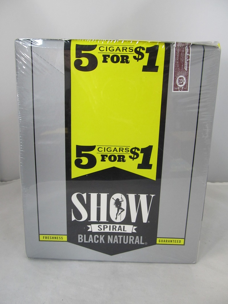 Show Cigarillos 5 Cigars For $1 ~ 15ct Pouch (Black Natural)