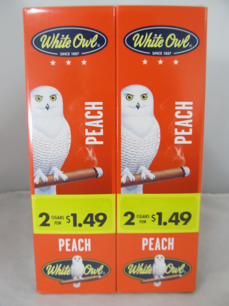 White Owl Cigarillos 2 for $1.49 ~ 30ct Pouch (Peach)
