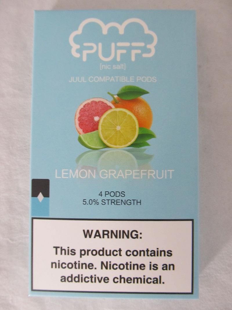 PUFF Salt Nic 5% 4ct JUUL Compatible Pods (Lemon Grapefruit)
