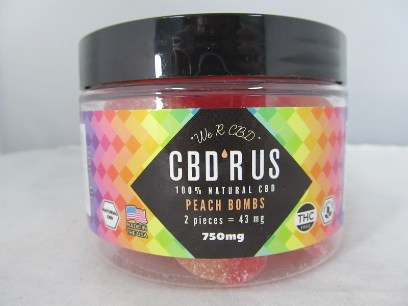 CBD R US Edible CBD 750mg Jar (Peach Bombs)