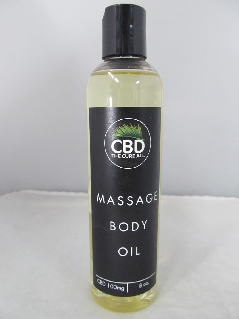 CBD The Cure All Massage BODY OIL 100mg 8oz