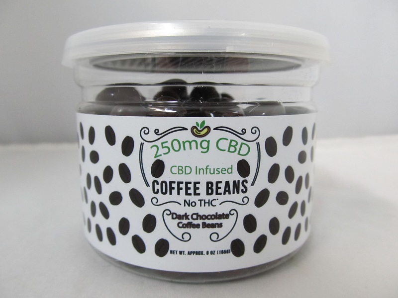CBD Infused Edibles 5-6oz 250mg CBD (Dark Chocolate Coffee Beans)