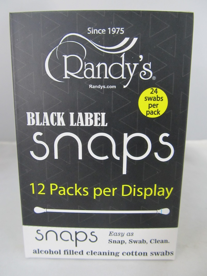 Randy's Snaps Alcohol Filled Cotton Cleaning Swabs 24ct / 12 Pack Display