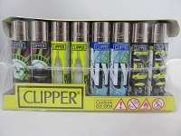 Clipper Refillable Lighter New York 48ct Display
