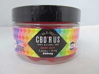 CBD R US Edible CBD 250mg Jar (Cherry Drops)