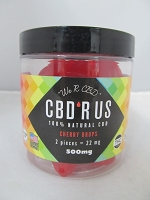 CBD R US Edible CBD 500mg Jar (Cherry Drops)