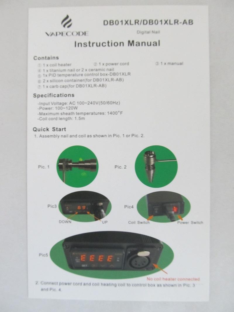VapeCode Digital E-Nail Complete Kit