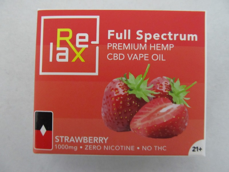 Relax Prefilled CBD POD 100mg Strawberry