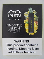 PUFF Stick Disposable Device 5% Salt Nic 2pk (Pineapple Lemon)