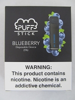 PUFF Stick Disposable Device 5% Salt Nic 2pk (Blueberry)