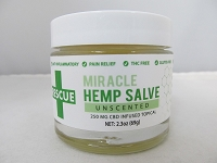 RESCUE Miracle CBD Hemp Salve 2.3oz 250mg Topical (Unscented)