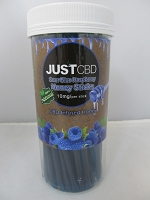 Just CBD Sour Blue Raspberry Honey Sticks 10mg Per Stick 60ct Jar