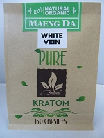 Matrix Botanicals Premium Pure White Vein Kratom Series 150 Capsules