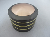 Sharpstone 63mm Two Tone Gold Rings 4 Part Zinc Grinder