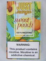 JUST Mango 5% 4ct PODS Sweet Peach