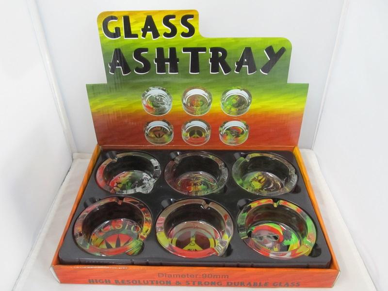 Rasta Small Ashtrays 6CT Display