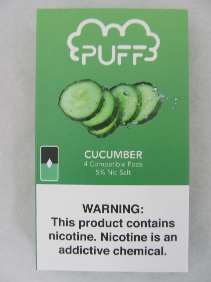 PUFF Salt Nic 5% 4ct JUUL Compatible Pods (Cucumber)