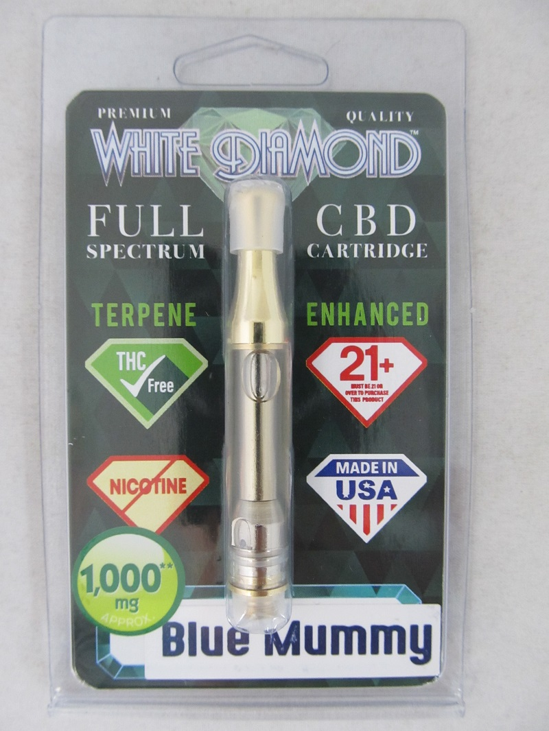 White Diamond Full Spectrum CBD Vape Cartridge 1000mg 1ml