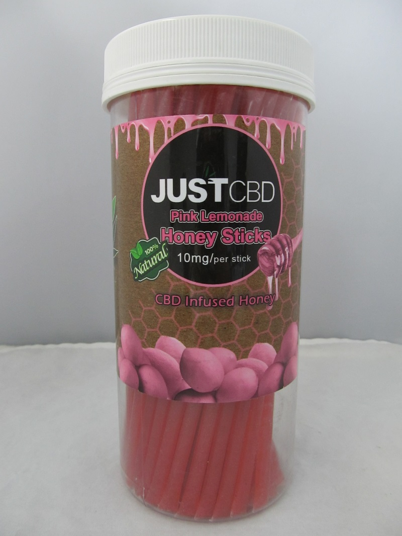 Just CBD Pink Lemonade Honey Sticks 10mg Per Stick 60ct Jar