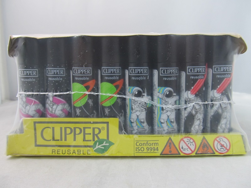 Clipper Refillable Lighter Astro World 1 48ct Display