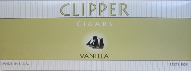 Clipper Vanilla Cigars 100's Box 10/20pk