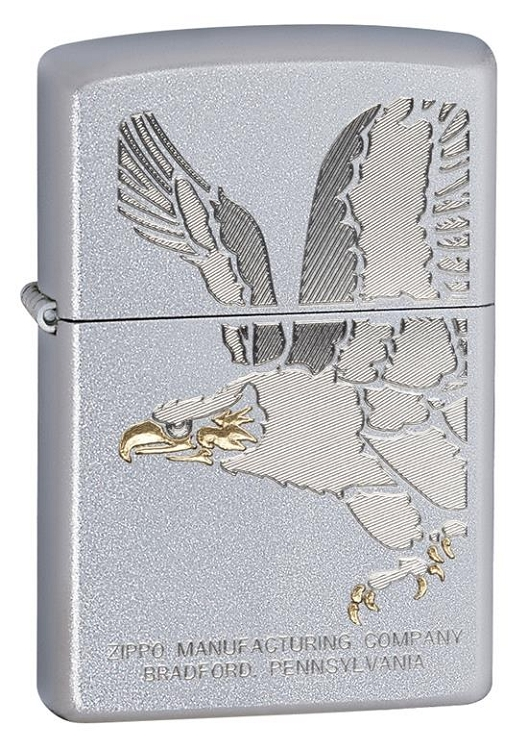 Zippo: Golden Eagle Satin Chrome # 28356