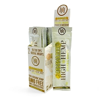 High Hemp Organic CBD Blunt Wraps 25ct (Banana Goo)