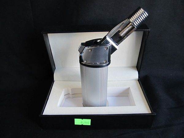 Multi Angle Silver Torch Lighter