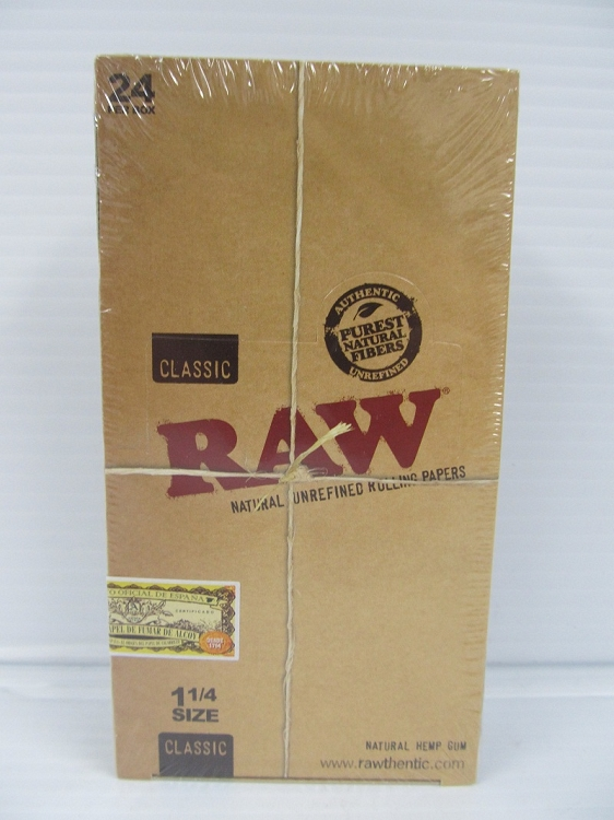 Raw 1-1/4 Rolling Papers 24 booklets