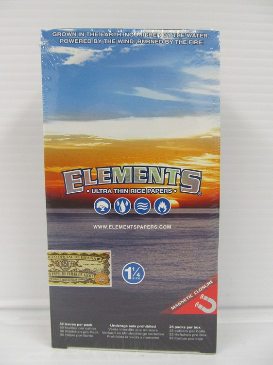 Elements 1-1/4 Ultra Thin Rice Paper 25 booklets