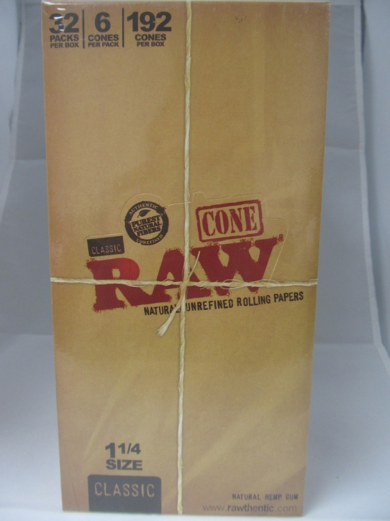 Raw Cones 1-1/4 32 pack box