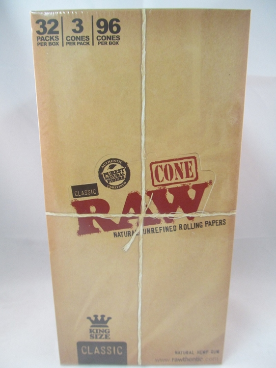 Raw Cones King Size 32 pack box