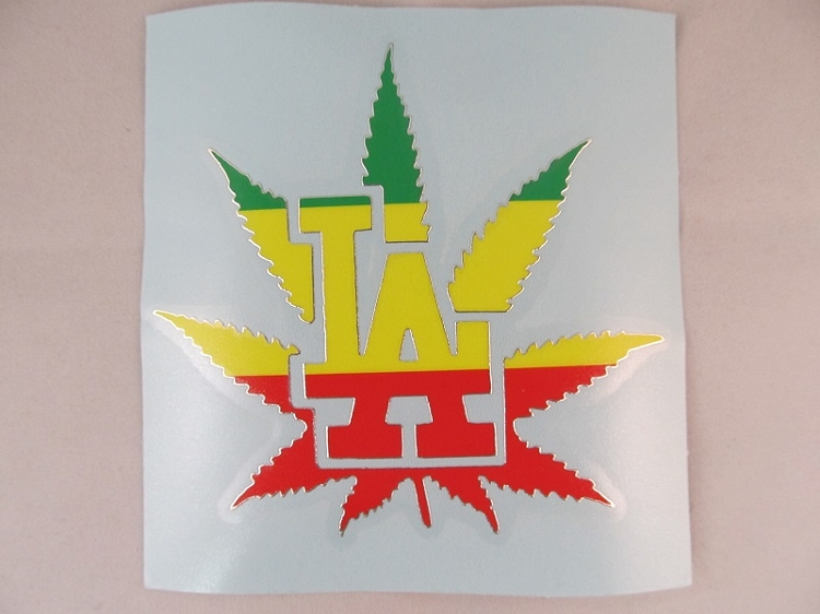 Sticker: Rasta Leaf LA