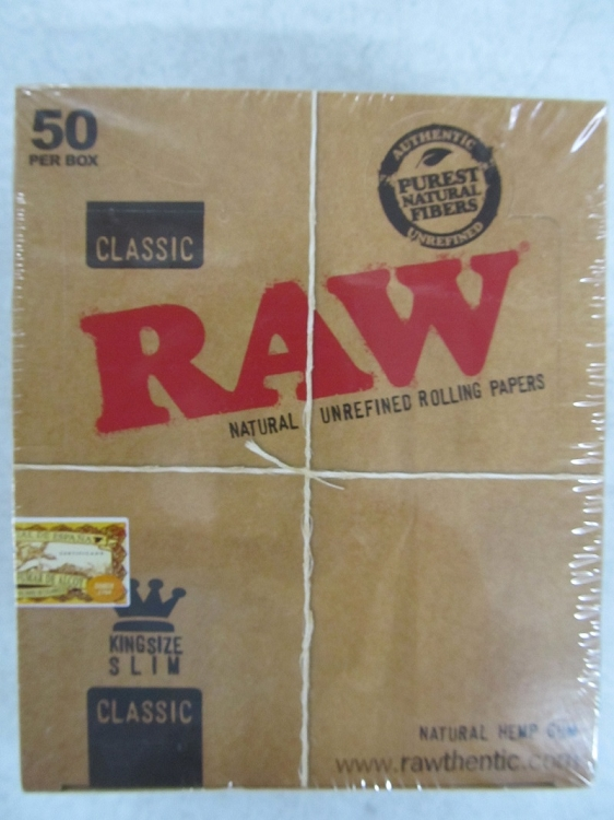 Raw Classic King Size Slim Paper 50 booklets