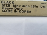 Black Plastic Bag 8inX4inX16in 600pcs