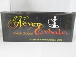 Never Exhale 40mm Round Charcoal 10pk 100pc